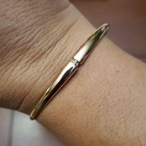 Rose gold cuff bracelet